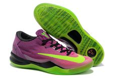 new concept e1c31 41be5 For Sale Nike Kobe 8 VIII System Mambacurial Red Plum Electric Green Pink  Flash Mens Basketball Shoes