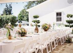 outside, the wedding table.