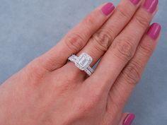Emerald Cut Diamond Wedding Ring Sets