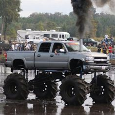 Rollin coal on water Chevy Lowered Trucks, Jacked Up Trucks, Lifted Chevy, Gm Trucks, Diesel Trucks, Chevy Trucks, Pickup Trucks, Mudding Trucks, Redneck Trucks
