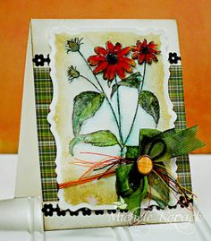 Watercolor Flower Garden Card: learn how to make stunning 3D flower embellishments and use them as the central motif for your next handmade card.