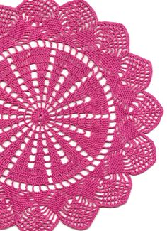 Wedding Doily, Crochet doily, lace doilies, crocheted place mat, center piece, doily tablecloth, napkin, handmade doilies, pink