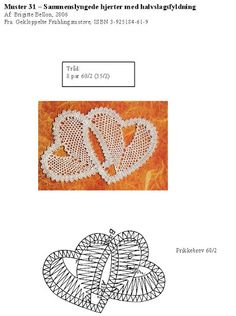 Hand Embroidery Flowers, Lace Embroidery, Bobbin Lace Patterns, Crochet Patterns, Bobbin Lacemaking, Lace Heart, Point Lace, Lace Jewelry, Needle Lace