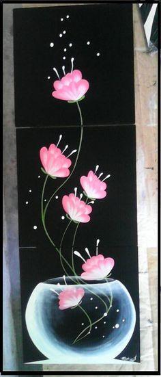 Cuadros Minimalistas Abstractos Decorativos Modernos Étnicos - Bs. 16.500,00 Tole Painting, Fabric Painting, Painting & Drawing, Deco Floral, Painting Inspiration, Diy Art, Flower Art, Canvas Wall Art, Watercolor Art