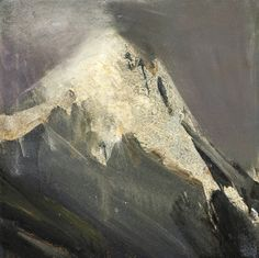 'Light Over the Mountain' (2003) by Norwegian artist Ørnulf Opdahl (b.1944). Oil on canvas, 50 x 50 cm. via a long time alone Watercolor Landscape, Abstract Landscape, Landscape Paintings, Art Alevel, Mountain Paintings, Beginner Painting, Paintings I Love, Oil Painting Abstract, Painting Inspiration
