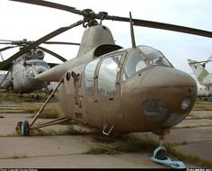 Mil Mi-1 - One of first Soviet helicopters with piston engine.