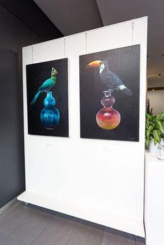 Vibrant bird paintings by South African artist Grace Kotze Bird Paintings, South African Artists, Online Gallery, Online Art, Art For Sale, Still Life, Contemporary Art, Original Art, Vibrant