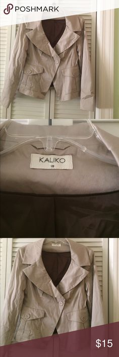 Blazer Great condition. Uk size 10, EU 28. I would say this is a US Size M. 98% cotton, machine washable. kaliko Jackets & Coats Blazers