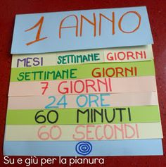 Minibook  Time division From year to second -    Libricino per imparare la scansione del tempo dall'anno al secondo