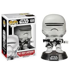 Star Wars Force Awakens POP First Order Flametrooper Bobble Head Vinyl Figure