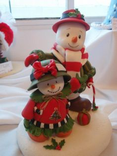 Polymer Clay Snowman for Christmas Holiday