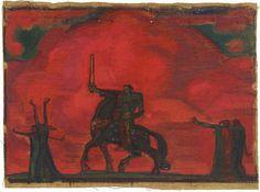 """""""Sõttaminek"""" / """"Going to war"""" - Nikolai Triik, 1909"""