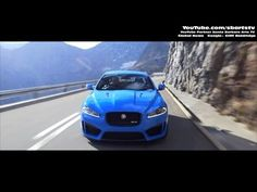 Aggressive Driving and Drifting New Jaguar 2014 XFR-S Geneva Motor Show. SBARTSTV Global News.