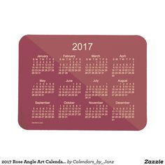 2017 Rose Angle Art Calendar by Janz 3x4 Magnet