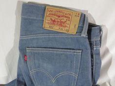 Levis Mens 501 Original Fit Shrink-to-Fit Jeans 36 x 30 #Levis #ClassicStraightLeg