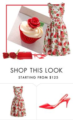 """""""red roses pancake"""" by bodangela ❤ liked on Polyvore featuring Rachel Riley, STELLA McCARTNEY and MKF Collection"""