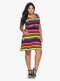 TORRID.COM - Multi-Colored Striped Tank Dress