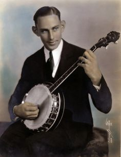 A 1930s banjo player taken by Witzel.  Bizarre Los Angeles.