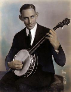 A 1930s banjo player taken by Witzel.  Bizarre Los Angeles.