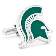 Michigan State Spartans NCAA Logod Executive Cufflinks w/Jewelry Box