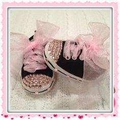NeW BLiNG BLiNG BLaCk Baby Shoes So Cute by BabyCakesByBella, $39.95