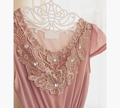 Medieval Downton Abbey Dusty Pink Blush Spring by RiverOfRomansk, $43.85