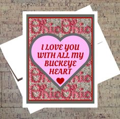 Ohio State Card Funny Valentine Card Funny I by WhatACardCards