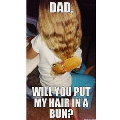 Tag a dad who would do this!! #Fathersday 🤪 . 🦄 . #memes #funny #jokes #hairbun #buns #mamasaysso #mommies #motherhood #fathersdaymeme #happyfathersday