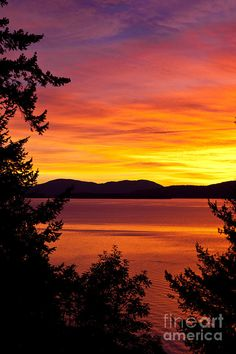 """Sunset Over Bellingham Bay"" by Janice M LeCocq - Bellingham, Washington"