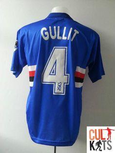02e3fbf03f Sampdoria GULLIT  4 92 94 Home Football Shirt (L) Soccer Jersey Serie A  Asics