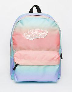 Vans   Vans Backpack in Pastel Ombre Stripe at ASOS