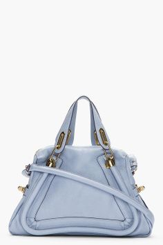 Chloé :::  Chloe Periwinkle Blue Paraty Medium Shoulder Bag