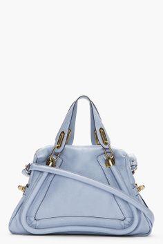 Chloé :::  Chloe Periwinkle Blue Paraty Medium Shoulder Bag