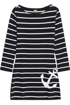 J.Crew  Maritime striped cotton-jersey dress