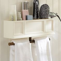 hannah beauty hair accessories organizer shelf | $69 from pottery barn teen (wonder if you couldn't make something similar yourself for less)