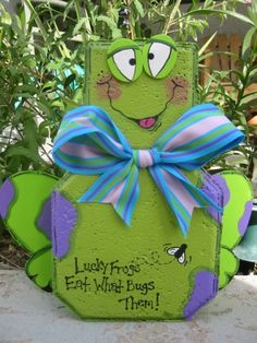 Frog Patio Person by SunburstOutdoorDecor on Etsy, $20.00