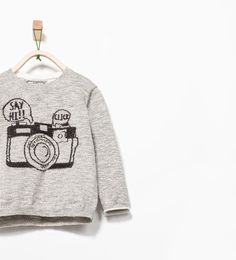 Image 1 of EMBROIDERED CAMERA SWEATER from Zara