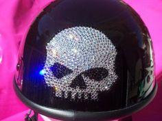~Harley Davidson Bling HELMET~I'm SO doing this to my helmet!~