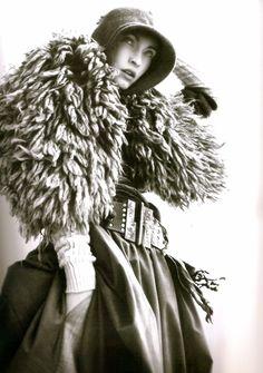big fur shoulder wrap