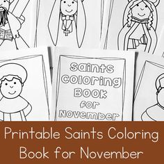Printable Saints Coloring Book for November