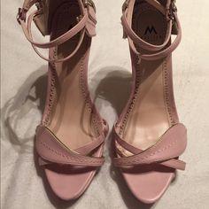 Soft blush stilettos Blush stilettos with wrap around the ankle buckle strap Shoes Heels