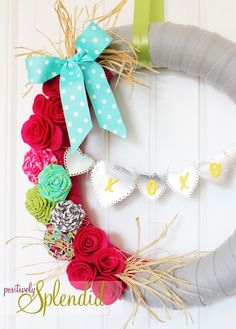 cute, simple, and easy diy wreath idea - for any occasion.
