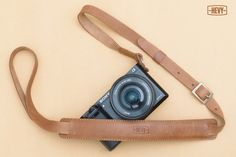 Adjustable Brown Leather Strap for Mirrorless Camera (sony nex, fuji, olympus) #Hevy