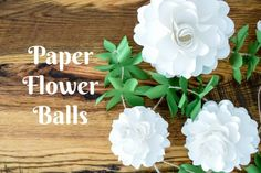 How to Make Paper Flower Balls: Step-By-Step Tutorial | https://www.abbikirstencollections.com/2018/02/how-to-make-paper-flower-balls-step-by-step-tutorial.html