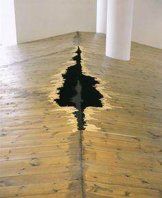 Rosie Leventon (Artist) in London (United Kingdom) from Re-title.com Floating Floor. Wood, water, scaffolding.