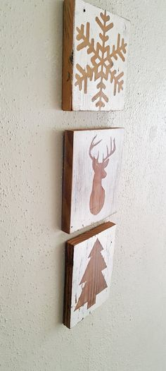 These are perfect to keep up all winter, not just during Christmas!  https://www.etsy.com/listing/249983283/rustic-christmas-decor-set-of-2