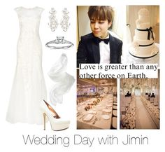 """""""Wedding Day with Jimin"""" by btsoutfits ❤ liked on Polyvore featuring Phase Eight, Kate Spade, Blue Nile and Sophia Kokosalaki"""