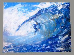 Surfer Painting - Abstract Original Impasto Painting. Made to Order. Hand painted On Canvas on Etsy, $63.38