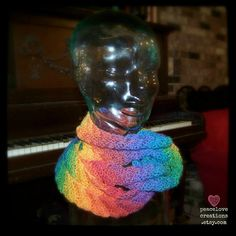 Rainbow Infinity Scarf by peacelovecreations on Etsy, $43.00