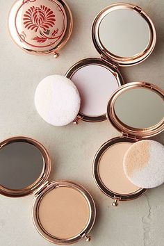 These Are The BEST Beauty Products At Anthropologie #refinery29  http://www.refinery29.com/anthropologie-beauty-makeup-products#slide-7  This powder foundation is extremely blendable and never looks the slightest bit cakey. Plus, it comes in a refillable 1940s-inspired compact that looks like something you would find at a flea market in Paris. Bésame Cashmere Powder, $42, available at Anthropolo...